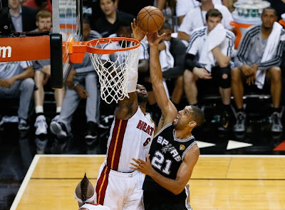 lebron james nba 130618 mia vs sas 62 game 6 finals Heat Gain Extra Life & Force Game 7 Behind Strong Finish from LeBron James. #TheHeadbandGame