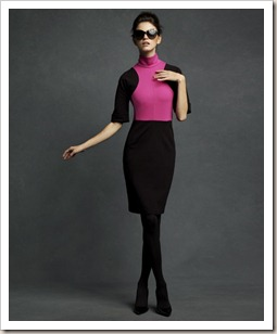 Karl-Lagerfeld-for-Impulse-only-at-Macys-Blk-and-Fushia-Dress-991