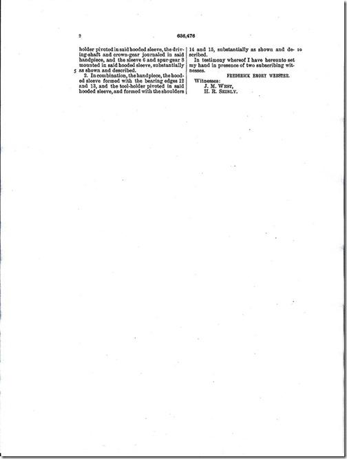 Frederick Emory Webster Patent Pg. 3