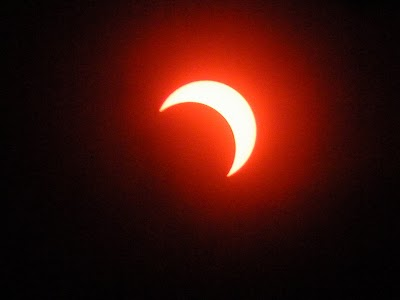金環日食後の部分日食