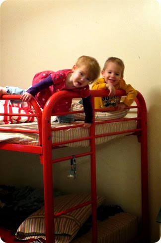 Twins on Top Bunk