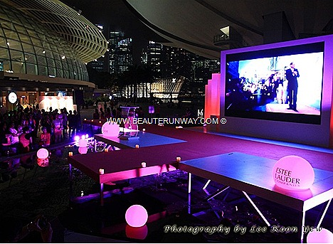 Estee Lauder Companies Singapore Pink Illumination Global Landmark Empire State Building, Kensington Palace, Niagara Falls,Canada, Tokyo Tower, Sydney Harbour Bridge,  Leaning  Tower of Pisa Art Science Museum Singapore