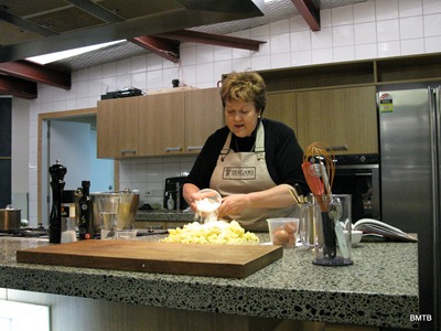 Jo making Gnocchi