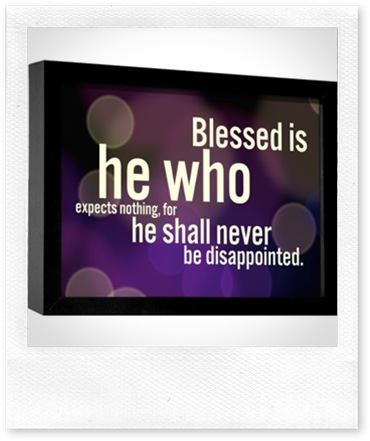 blessed - disappointed