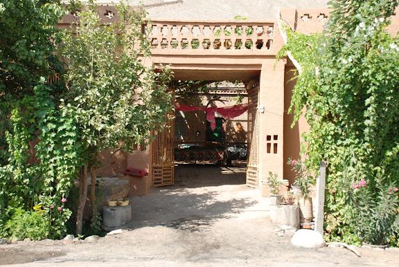 Turfan - Putaogou entrée maison porte ouverte