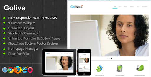 Golive - Responsive WorPress CMS Theme - Business Corporate