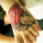onion garlic food - Foot Tattoos Designs