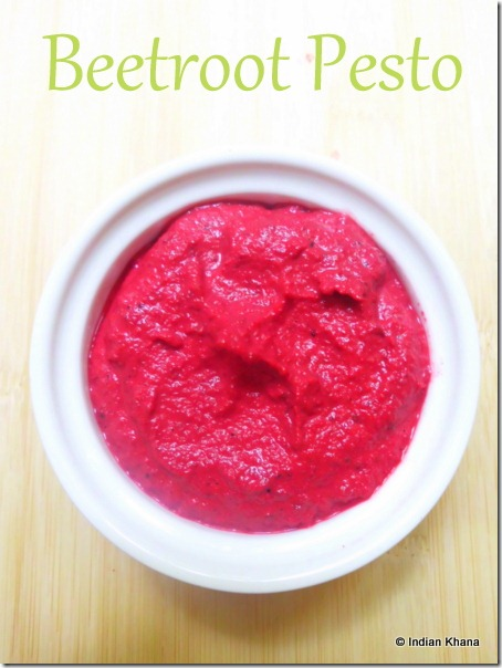 Roasted beetroot pesto recipe