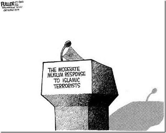 Empty Podium - Islam responds Terrorism