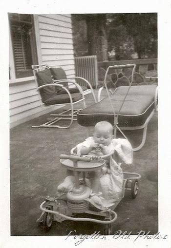 Baby in stroller 1940s