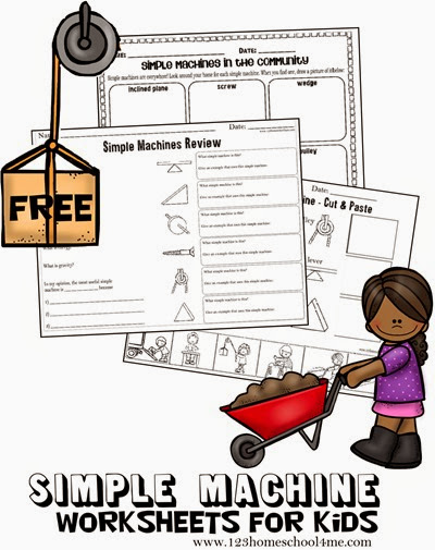 free printable simple machines worksheets for kids