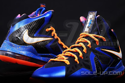 nike lebron 10 ps elite blue black 1 03 Nike LeBron X P.S. Elite Superhero   New Photos