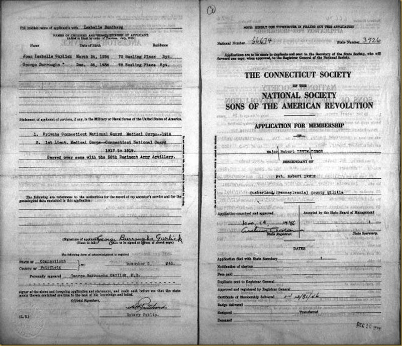 SAR Robert Irwin application