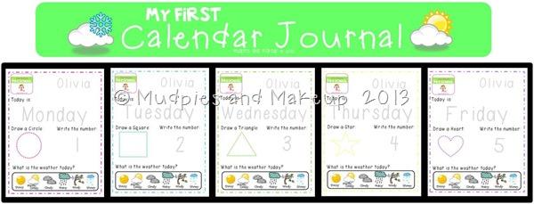 My First Calendar Journal