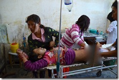 Kachin civilian injured by Burma army shelling