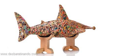 arte esculturas com skate reciclado desbaratinando  (23)