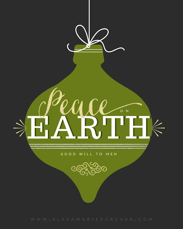 Free Christmas Printables, Peace on Earth printable