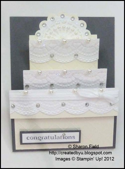wedding cake congrats with gift card pocket by sharon field