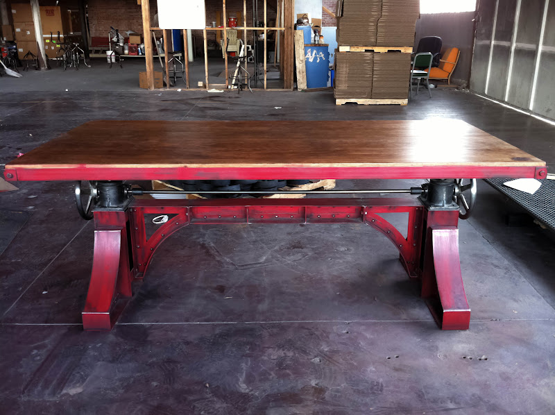 Vintage Industrial Dining Room Table. Vintage Industrial Bronx Crank Table 2  1 jpg Desks Furniture
