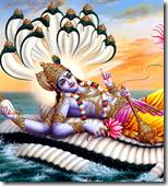 [Lord Narayana resting]