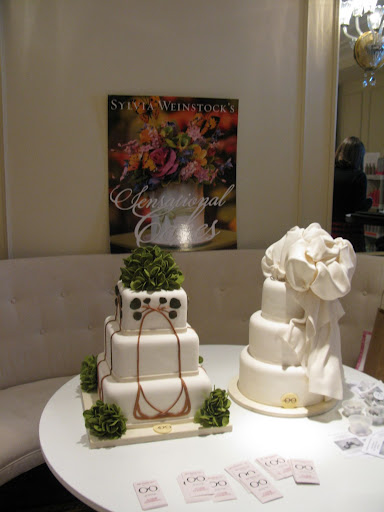 Two beautiful cakes from Sylvia Weinstock.