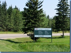 2150 Manitoba Hwy 10 North Riding Mountain National Park - sign