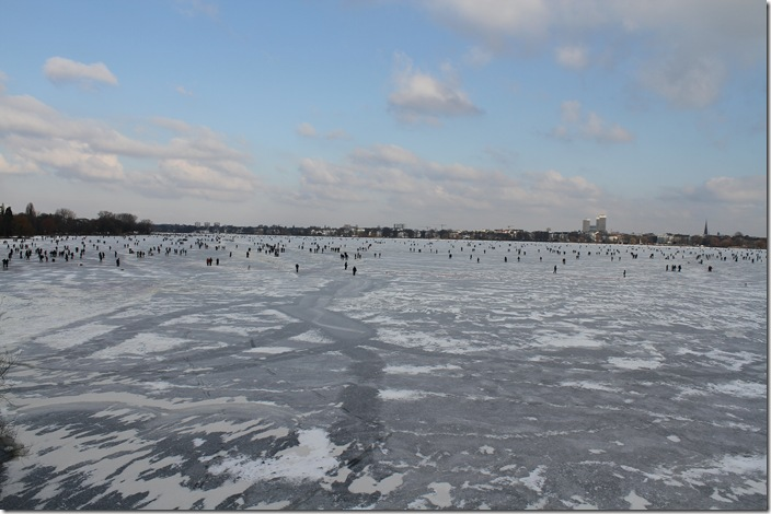Frozen Alster Lake