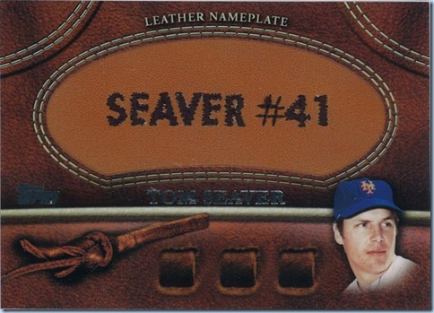 2011 Topps Leather Nameplate Seaver