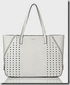 LK Bennett White Perforated Tote Bag