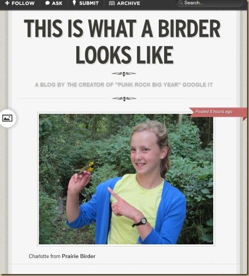 Birder looks like