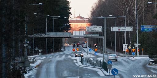 Vy från Knäppingen och Dag Hammarskjölds väg