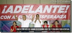 Sánchez Cerén. Eleições presidente de El Salvador.Fev.2014