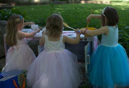 Princesses at the Mud Kitchen