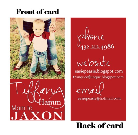 Mommy Card sample proof