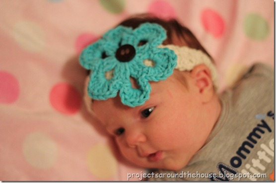 crochet headband with interchangeable flowers pattern