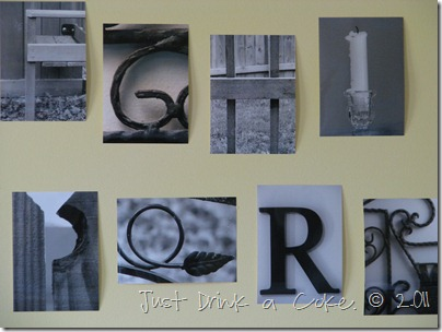 alphabet photo wall