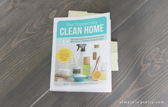 The Organically Clean Home, Post its marking recipes to make later