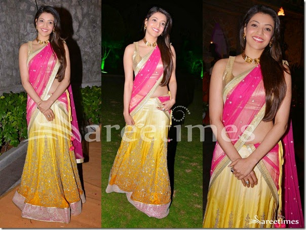 Kajal_Yellow_Pink_Half_Saree