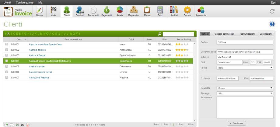 Magic Invoice - Gestione Clienti