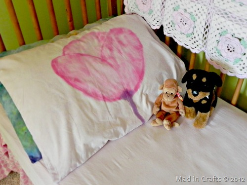 Watercolor Tulip Pillowcase