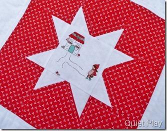 Little Red star block