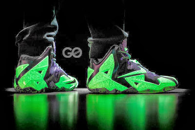 nike lebron 11 gr allstar 9 02 This is How Gator King Nike LeBron 11 Glows Under Black Light!