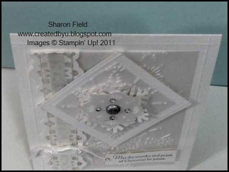 White on White, WOW, Christmas, Sharon Field, Embossing, Northern Flurry, Createdbyu, SUO, Jacksonville, Fl