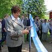Kansanedustaja ja ministeri Sirkka-Liisa Anttila piti juhlassa tervehdyspuheen ja leikkasi liikennekauden avajaisnauhan.