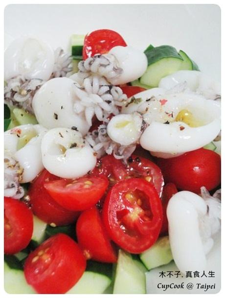 油醋涼拌小花枝 olive oil squid (8)