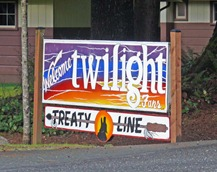 Treaty Line Sign