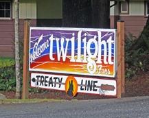 Treaty Line Sign