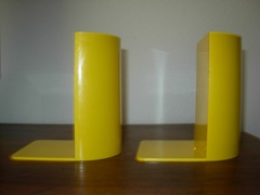 yellow plastic bookends