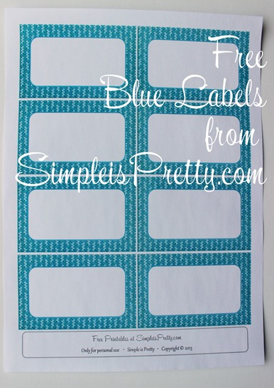 Blue Blank Label Printable