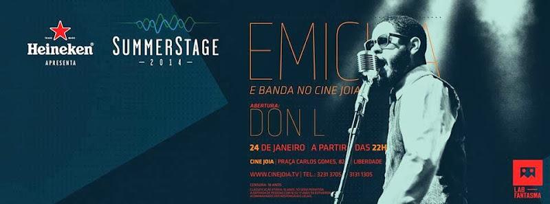 Emicida e banda se apresentam sexta, dia 24, no Cine Joia, em São Paulo
